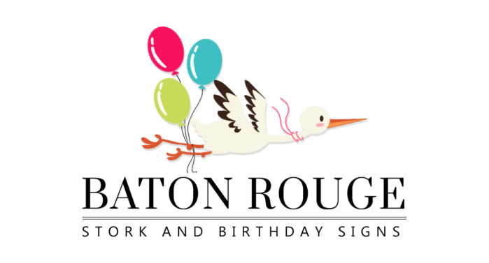Baton Rouge Stork and Birthday Signs