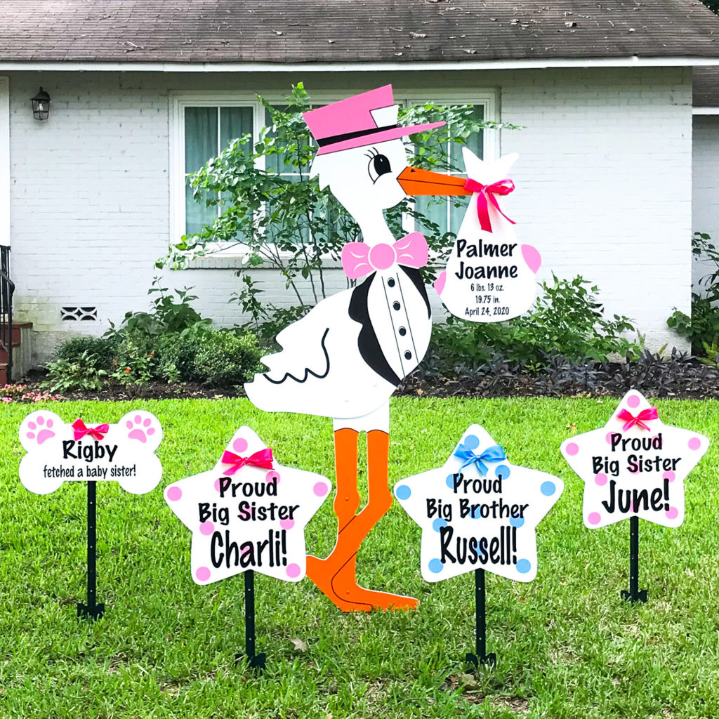 Stork Lawn Sign